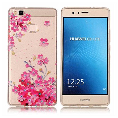 Yaking® Huawei P9 Lite Coque Silicone TPU Case Cover Gel Étui Housse pour Huawei P9 Lite 4-F
