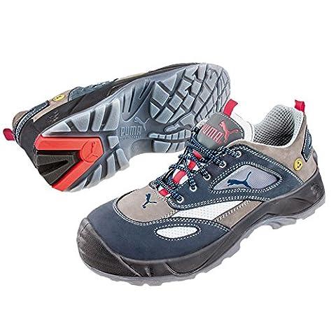Puma Safety Shoes Aerospace Low S1 ESD SRC, Puma 640660-353 Unisex-Erwachsene Espadrille Halbschuhe, Blau (blau/grau 353), EU 43