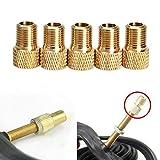 VORCOOL 10pcs Fahrrad-Reifen-Pumpen-Konverter-Auto-Ventil-Adapter-Fahrrad-Fahrrad-Schlauch-Pumpen-Luft-Kompressor-Werkzeuge (strukturierter Kupfer)