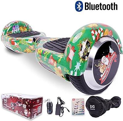 [Regalo Navidad] Cool&Fun Hoverboard Patinete Eléctrico Scooter y Certificado UL2272 Talla 6.5