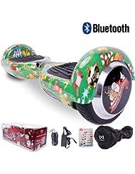 """[Regalo Navidad] Cool&Fun Hoverboard Patinete Eléctrico Scooter y Certificado UL2272 Talla 6.5"""" From Shop Gyrogeek (C-Verde)"""