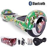 Cool&Fun Hoverboard 6,5 pouces Smart Scooter Skateboard Électrique Gyropode de Boutique GyroGeek ( Vert, Motif Bonheur )