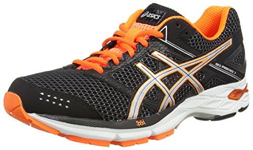 ASICS - Gel-phoenix 7, Zapatillas de Running Hombre, Negro (black/silver/hot Orange 9093), 44 EU