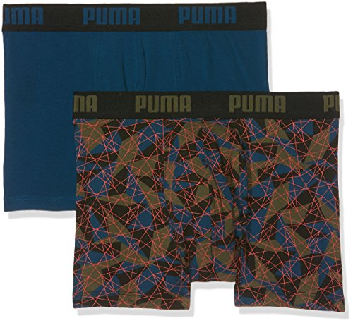 Puma Herren Unterwäsche Hyper Camo 2p Green/Blue