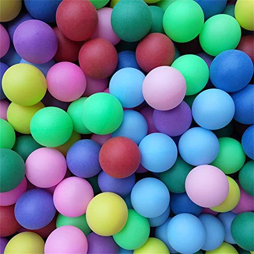 Freyamall 150 Stücke 40mm Premium Kunststoff Tischtennisbälle, Erweiterte Ausbildung Ping Pong Bälle Lotterie Bälle (Praxis ping-Pong Ball) (Sortierte Farbe)