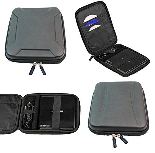 Igadgitz Nero Rigida EVA Custodia Case Cover Protezione per Unità di disco esterne combinate per DVD CD/DVD-RW/Blu-ray