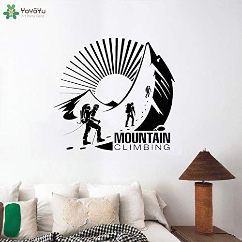 zhuziji Wall Decal Adventure Mountain Climbing Wall Stickers for Kids Room Extreme Sports Vinyl Window Art Mural Home Deco 61x57cm -