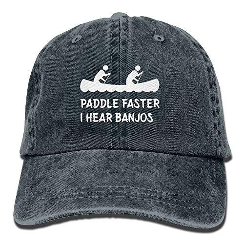 Paddel schneller höre ich Banjos Baumwolle einstellbare Cowboyhut Baseballmütze für Erwachsene Unisex - Haut Banjo