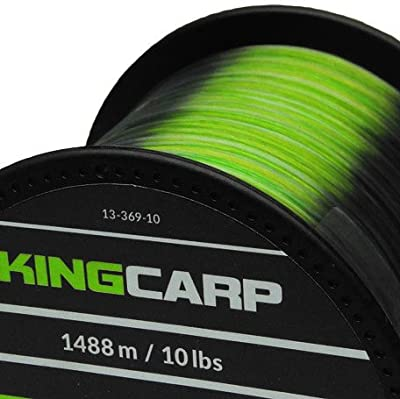 KINGCARP 1/4 lb Spools of CAMOU GREEN Bulk Extra Strong Monofilament Carp & Specimen Coarse Fishing Line - comes in 10, 12, 15 & 20lbs breaking strains from KING CARP