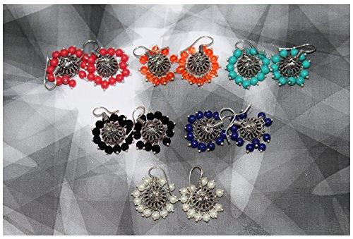 Waama Jewels Multicolor Gold-Plated Combo Of 6 Jhumki Earrings For Women