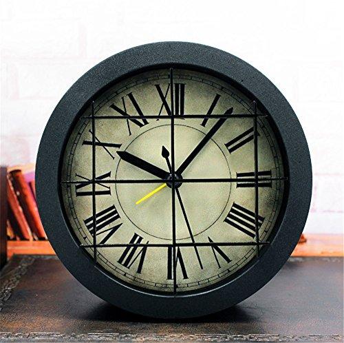 DIDADI Alarm clock Industrial Air Continental nostalgische kleine Alarm kreative Retro 3D Stereo clock Desktop Ladestation, wenn 12 cm Uhren - Air Alarm