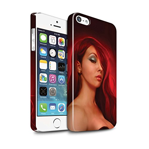 Officiel Elena Dudina Coque / Clipser Brillant Etui pour Apple iPhone 5/5S / Cheveux Dorés Design / Caractère Conte Fées Collection Jessica
