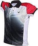 VICTOR indonesia polo pour femme SMALL Noir - Noir/rouge/blanc