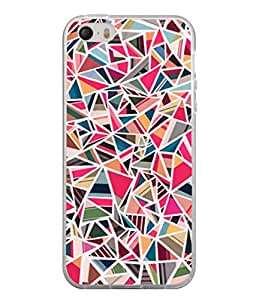 PrintVisa Designer Back Case Cover for Apple iPhone 4S (Texture Colourful Triangle Piece Diamond)