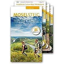 """Moselsteig - PremiumSet. Offizieller Wanderführer mit drei Karten 1: 25 000. GPS-Daten, Höhenprofile, Online-Anbindung """"Scan ... Römern und Riesling von Perl bis Koblenz"""