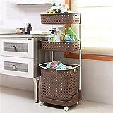 VIOY Regal Organizer Bins Regal Teiler Für Schränke Lagerregal Aufbewahrungsbox Badezimmer Regale WC Regal Kunststoff Kleidung Körbe mit Rädern