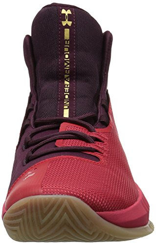 Under Armour Scarpa mid da basket uomo, UA DRIVE 4, art. 12983090600, colore rosso e bordeaux, collezione FW17 rosso