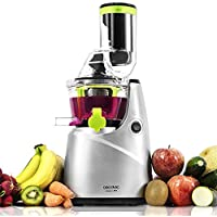 Cecotec Cecojuicer Pro - Licuadora para frutas y verduras de prensado en frío, extractor de jugo con canal XL para fruta entera