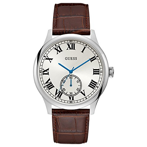 GUESS Cambridge Herren-Armbanduhr 38mm Armband Leder Braun Quarz W1075G4