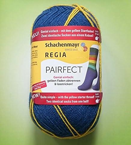 100 Gramm Regia Pairfect 4-fädig 7118 Neuheit 2015! Sockenwolle inkl. 1 Gratis Mützenlabel