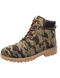 8b8aa15a1b5e Cooljun Captain Men s Lace-up Boot Martin Ankle PU Dress Ankle Ledge Men s Classic  Waterproof Boot Verdict…