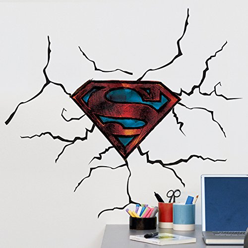 Unbekannt Sticker Wandtattoo Kinder Logo Superman (Warner) Neue Bilder (Seine Und Ihre Superhelden Kostüm)