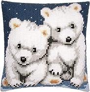 Cross stitch cushion kit Polar bears