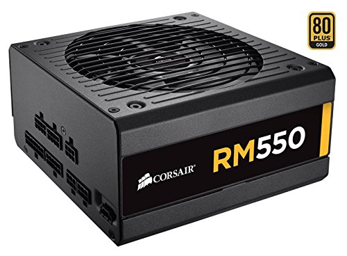 Corsair Rm Series Rm550 550w 80 Plus Gold Certified Fully Modular Power Supply Psu Smps