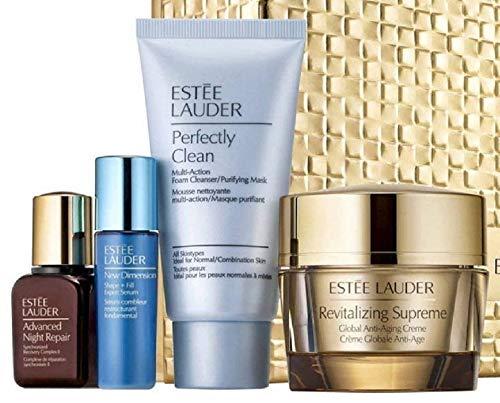 Estée Lauder Anti Aging Essentials Set (Perfectly Clean 50 ml + Advanced Night Repair 15 ml + Revitalizing Supreme 50 ml + New Dimension 7 ml), 1 Stück
