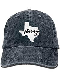 Kotdeqay YLY s Texas Strong Unisex Adulto Vintage Washed Denim Gorra de  béisbol Ajustable 32420 c8d3670ef1f