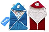 #6: My Newborn Velvet Baby Blanket Baby Wrapper With Velcro And Baby Sleeping Bag With Zipper-Combo of 2