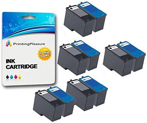 10 Tintenpatronen kompatibel zu Dell Serie 5 M4640 M4646 für Dell 922 924 942 944 946 962 964 - Schwarz/Color, hohe Kapazität -
