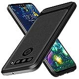 Aceniy LG V50 THinQ Case,[Black Soft Carbon Fiber Texture]