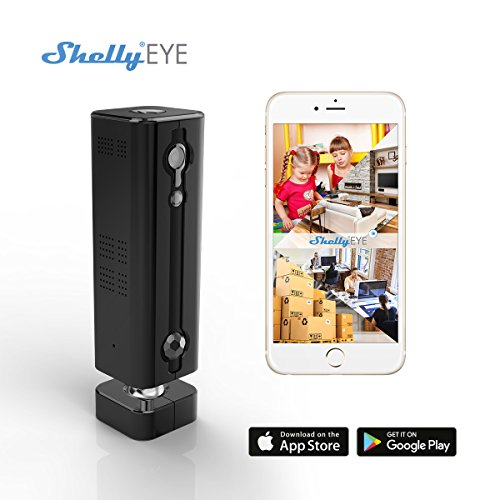 Shelly Eye 3G / Wireless Security 720P Camera WiFi Home Surveillance with Motion Detection, Two Way Audio, Baby Monitor, Night Vision Wide Viewing Angle - Free Cloud Storage … (Black)