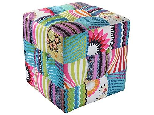 BHP Hochwertiger Patchwork Sitz Würfel Textil Möbel Bank Mobiliar Stoff Couch Sessel B412353