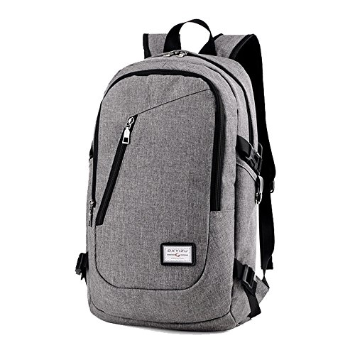 Business Laptop Backpack by DailyStar, 15.6 Inch College Backpacks with USB Charging Port, Anti-theft Lightweight Travel Bag for Men & Women(Lock Included)