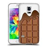 Head Case Designs Schmelzende Schokolade Schokoriegel Soft Gel Hülle für Samsung Galaxy S5 mini