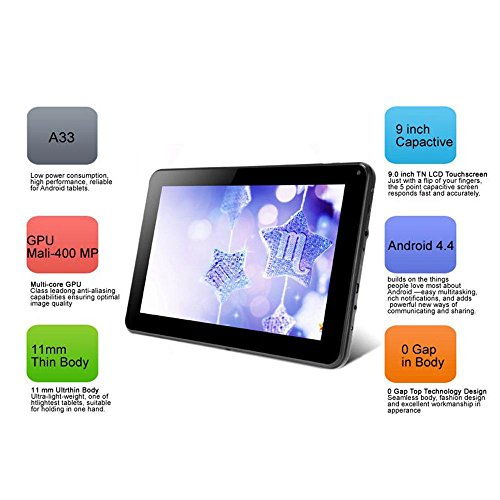 Tiptiper-N98-9-Android-44-EU-Plug-Tablet-PC-A33-Quad-Core-12GHz-1GB-RAM16GB-4000mAh-WIFI-Black