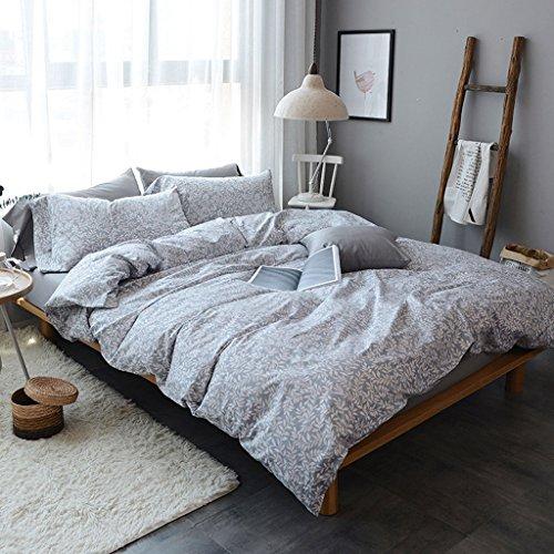 Herbst und Winter Stadt einfache Baumwolle vierteilige Set Quilten Bar Bettwäsche Quilt gewaschen ( Color : F , Size : 1.5-1.8m ) (Bett-kissen-decken-könig Size)