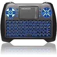 ANEWKODI Mini Tastiera Wireless Retroilluminato Touchpad Mouse Combo, 2,4GHz Mini Keyboard Telecomando per Smart TV, HTPC, IPTV, Android TV Box, XBOX360, PS3, PC, etc