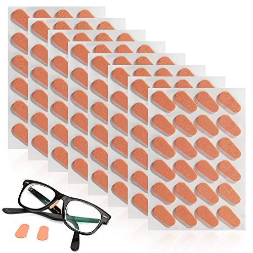 MWOOT 96 Paare Adhesive Nasenpads Anti Rutsch Brillen Pads für Gläser Sonnenbrille Brill (Hautfarbe)