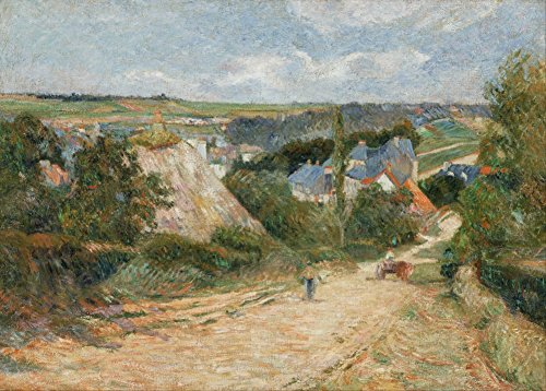 paul-gauguin-entree-du-village-dosny-environ-1882-83-sur-format-a3-papiers-brillants-de-250g-affiche