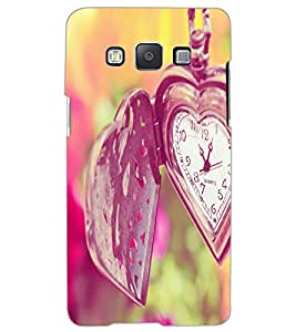 SAMSUNG GALAXY A5 HEART CLOCK Back Cover by PRINTSWAG