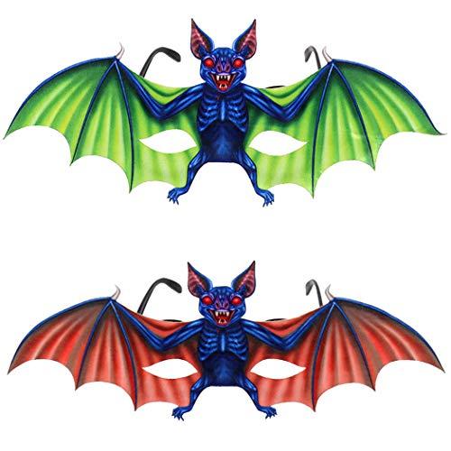 outgeek 2 Paar Party Brille Kreative Fledermaus Lustige Brille Kostüm Brille für Halloween (Kreative Paar Kostüm)