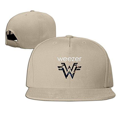 5c863617802 Hittings Weezer Band Logo Unisex Fashion Cool Adjustable Snapback Baseball  cap Hat One Size Natural