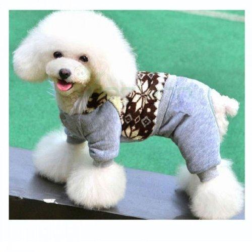 Cappottino invernale cane taglia XL grande imbottito vestito cappuccio (Cotone Imbottito Vestiti)