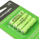 wiederaufladbare Akku-Batterien für Solarprodukte - 600mAh - von Festive Lights (4er Pack AAA 600mAh 1,2V)