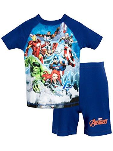Marvel Avengers - Ragazzi Due Pezzi Costume da Bagno - Avengers - 5-6 Anni
