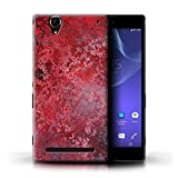 Stuff4 Phone Case for Sony Xperia T2 Ultra Red Fashion