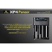 Xtar XP4 CCCV Chargeur intelligent pour 1 à 4 piles rechargeables Li-Ion AAA/AA/A/SC/C Ni-Mh avec chargement indépendant et courant de chargement sélectionnable 0,25 A 0,5 A et 1 A